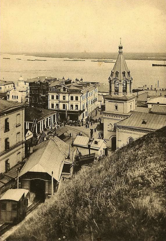 View of the Kremlin elevator and Church