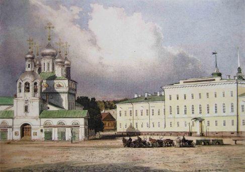Благовещенский собор и гимназия на Благовещенской площади в Нижнем Новгороде