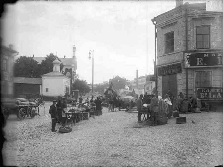 Торговля на Зеленском съезде. Фото М.Дмитриева, 1890-е.